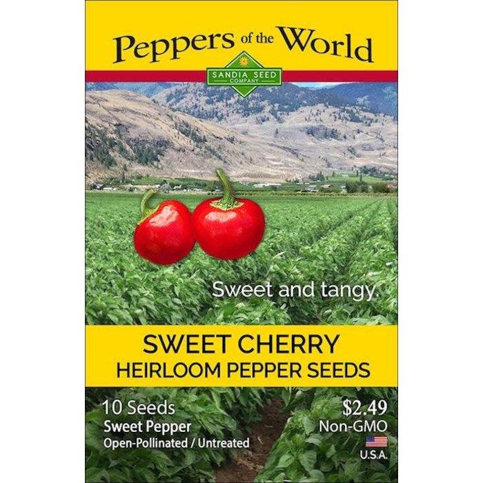 Seed Pepper Sweet Red Cherry Heirloom - Capsicum annuum