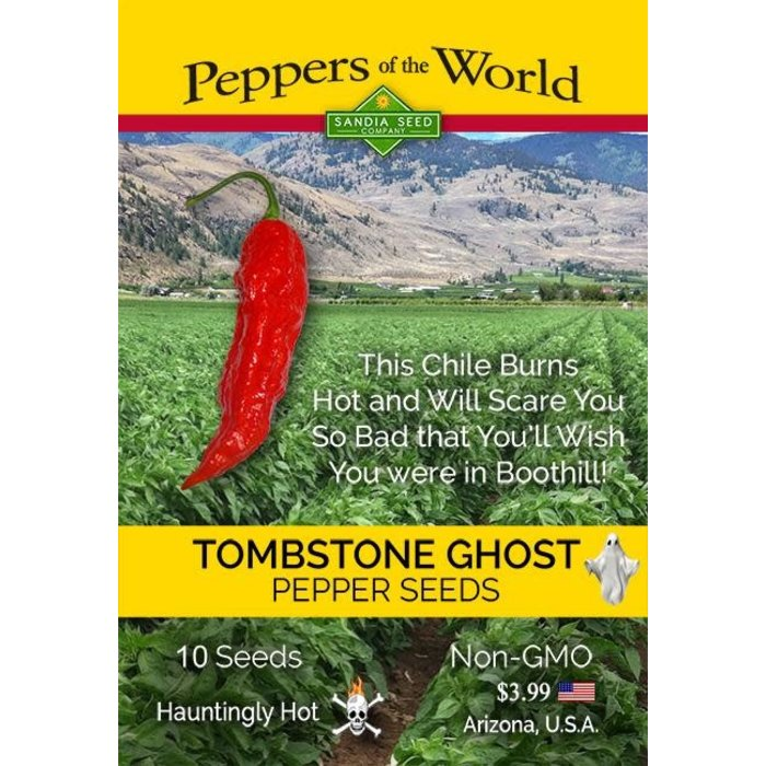 Seed Pepper Tombstone Ghost - Capsicum chinense