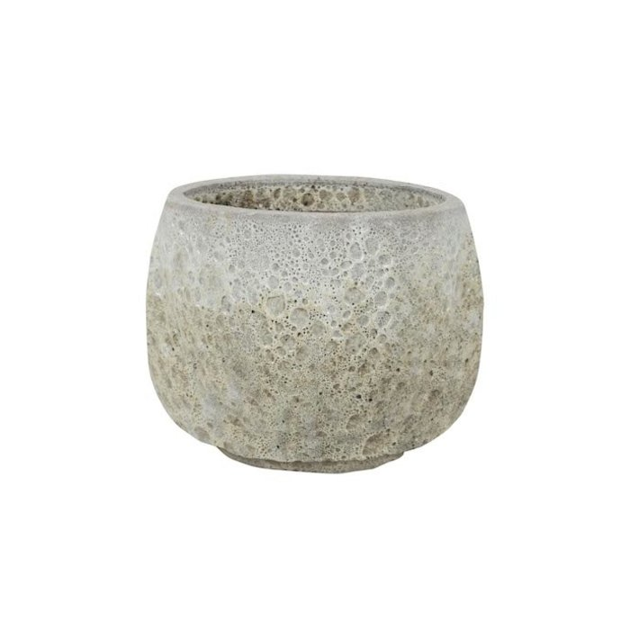 Pot Kona Footed Pot Lrg 19x14 Lava Brown/Lava White