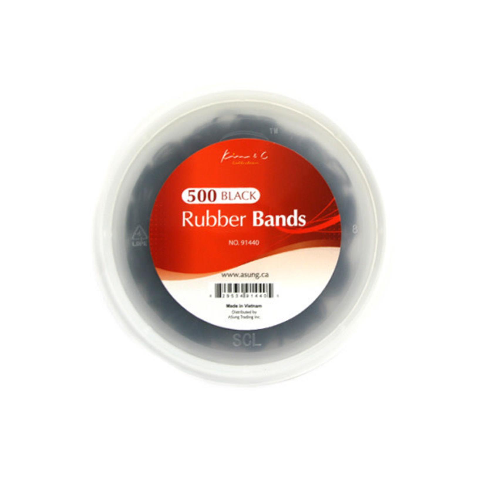 KIM & C KIM & C 500PCS RUBBER BANDS - BLACK