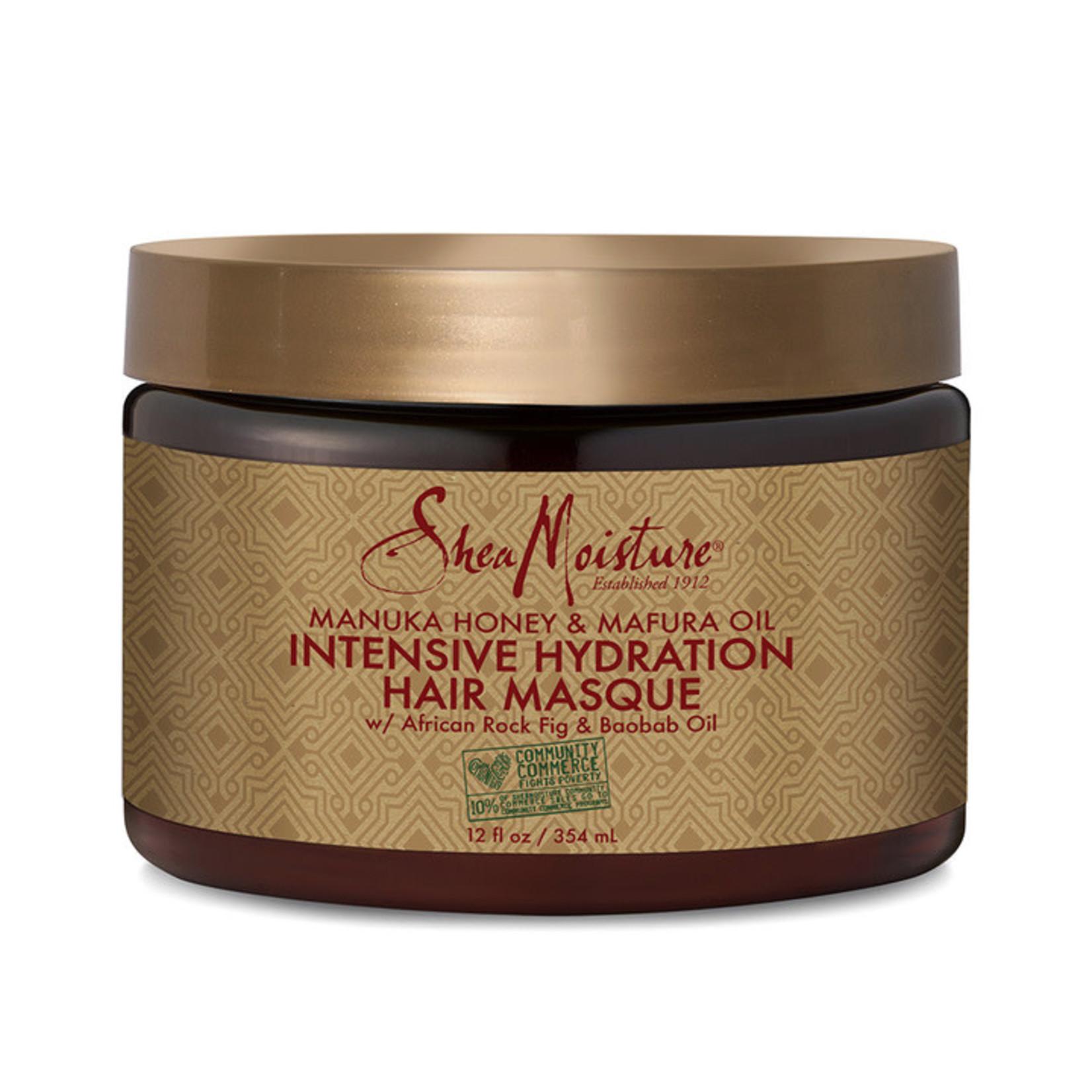 SHEA MOISTURE SHEA MOISTURE MANUKA HONEY & MAFURA OIL HYDRATION INTENSIVE HAIR MASQUE [12OZ]