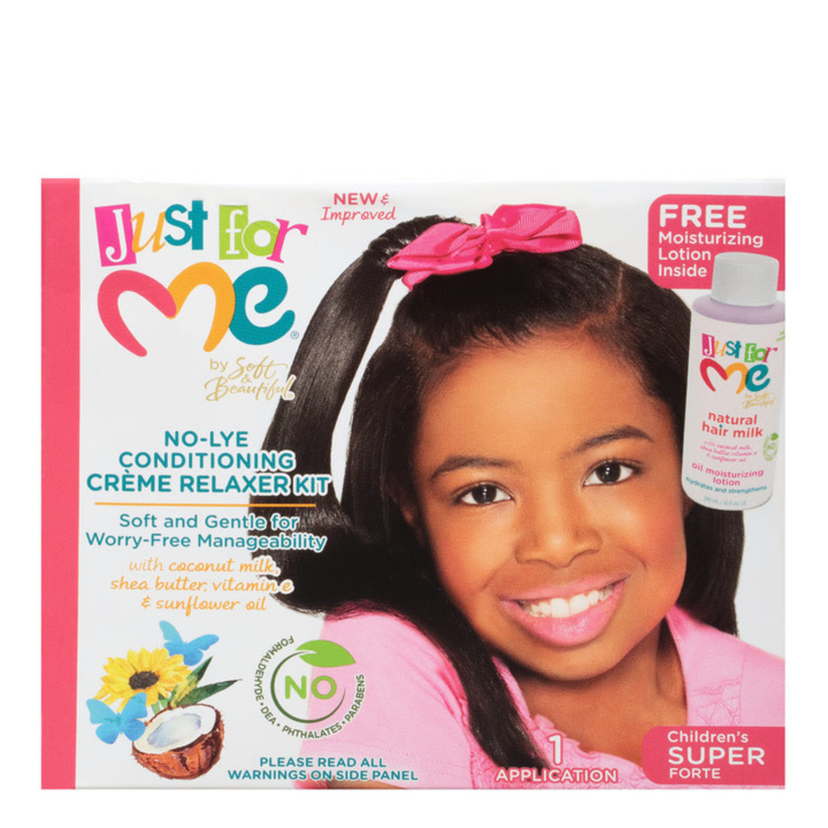 JUST FOR ME JUST FOR ME NO-LYE CONDITIONING CREME RELAXER KIT - SUPER