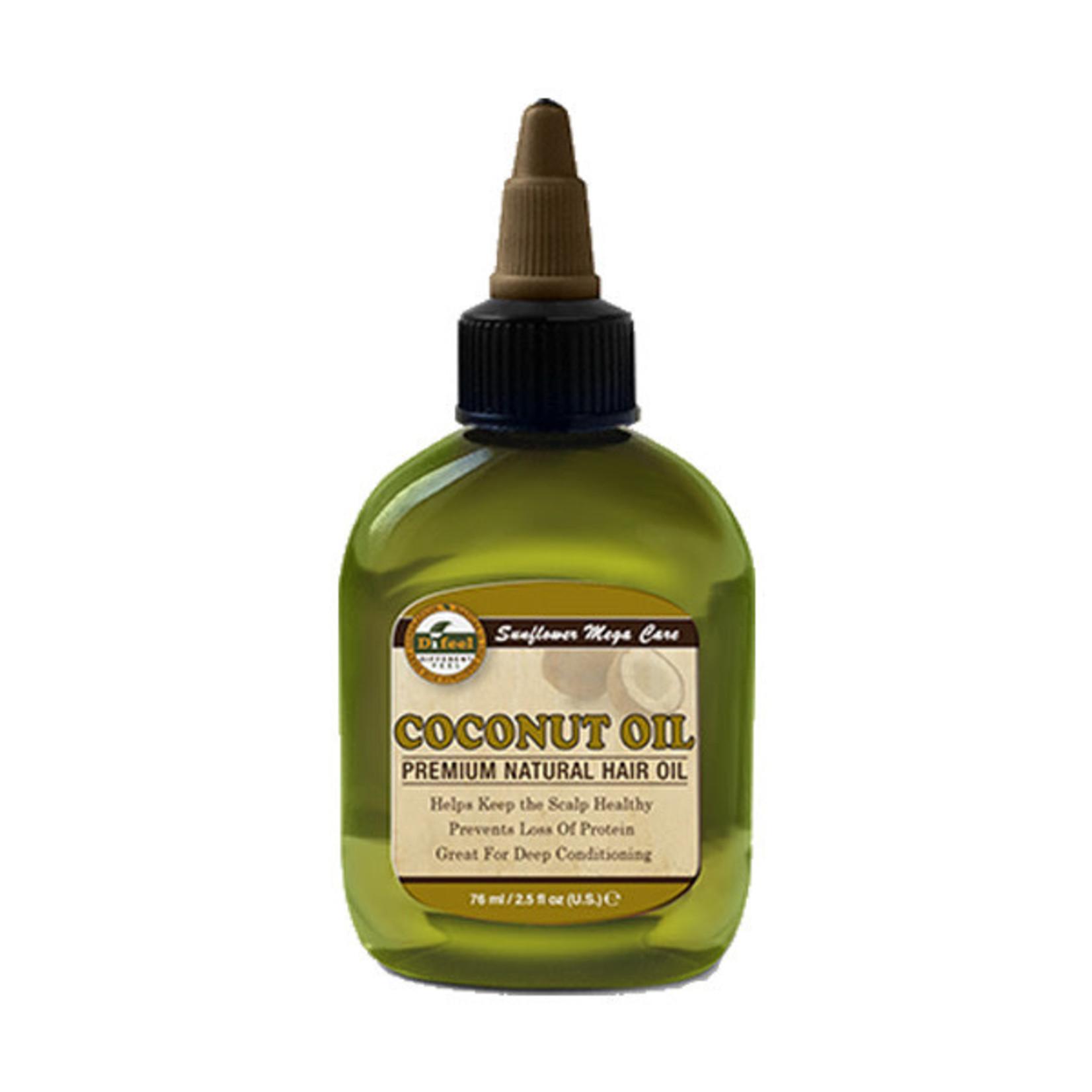 SUNFLOWER DIFEEL 99% NATURAL BLEND PREMIUM HAIR OIL [2.5OZ] - COCONUT OIL