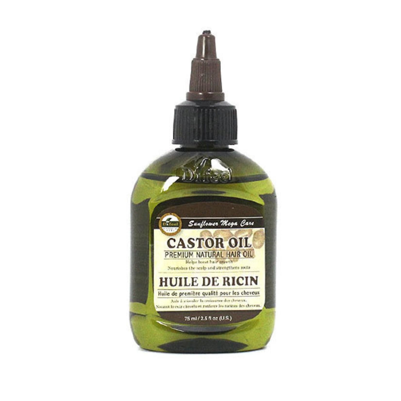 SUNFLOWER SUNFLOWER DIFEEL 99% NATURAL PREMIUM BLEND HAIR OIL [2.5OZ] - CASTOR OIL