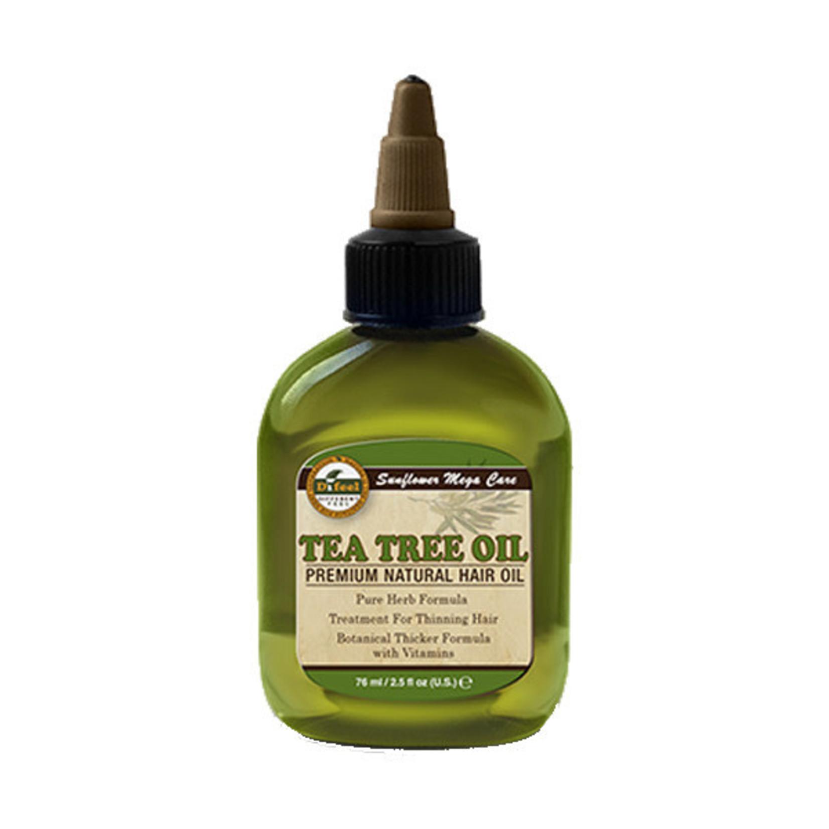 SUNFLOWER SUNFLOWER DIFEEL 99% NATURAL BLEND PREMIUM HAIR OIL [2.5OZ] - TEA TREE OIL