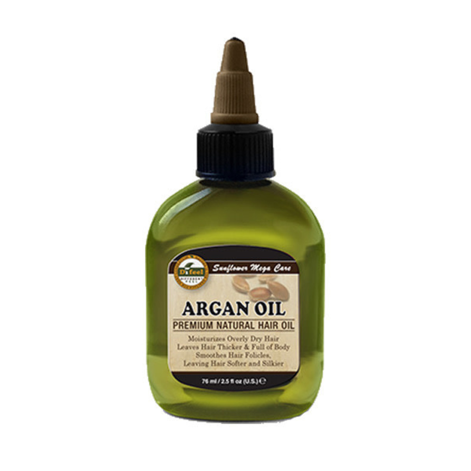 SUNFLOWER SUNFLOWER DIFEEL 99% NATURAL BLEND PREMIUM HAIR OIL [2.5OZ] - ARGAN OIL