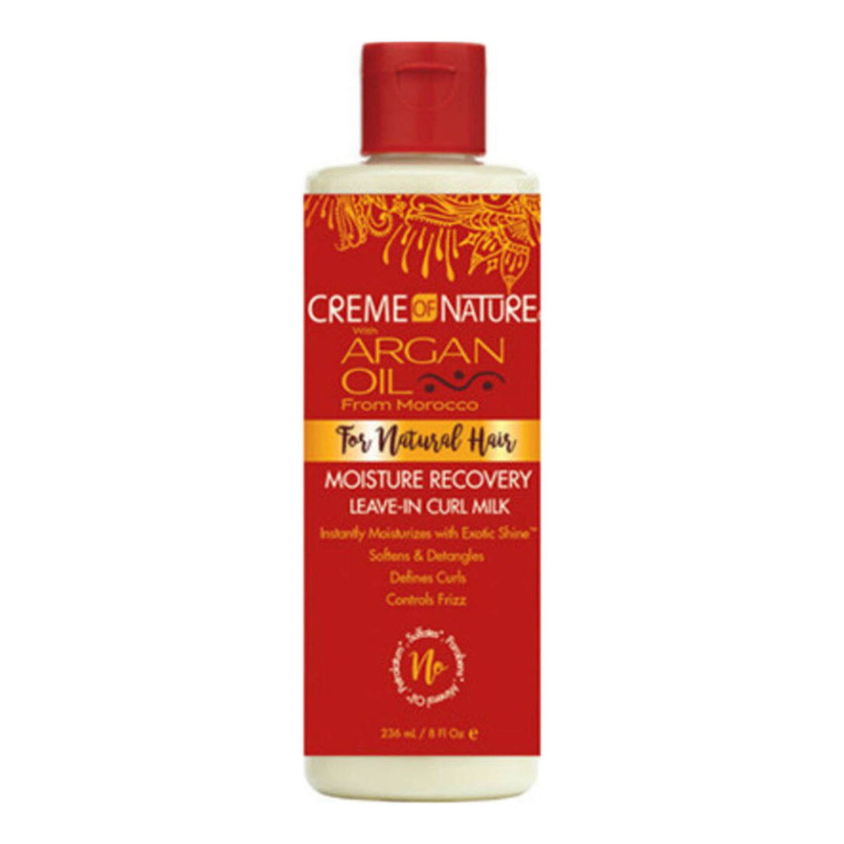 CREME OF NATURE CREME OF NATURE ARGAN OIL MOISTURE RECOVERY LEAVE IN CURL MILK [8OZ]