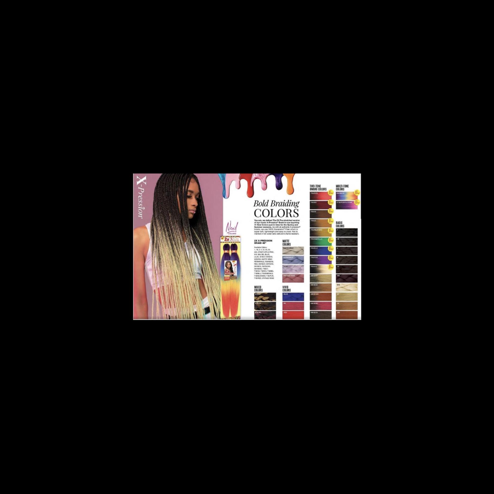 SENSATIONNEL 2x X-PRESSION PRE-STRTCHED BRAIDING HAIR