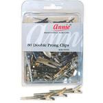 ANNIE ANNIE DOUBLE PRONG CLIPS (80PCS)