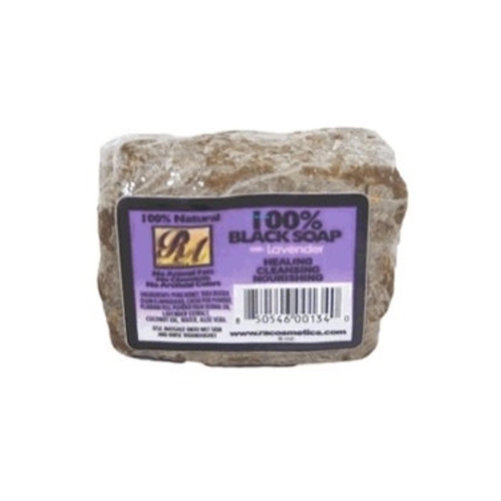 RA COSMETICS RA COSMETICS 100% BLACK SOAP - LAVENDER [5OZ]