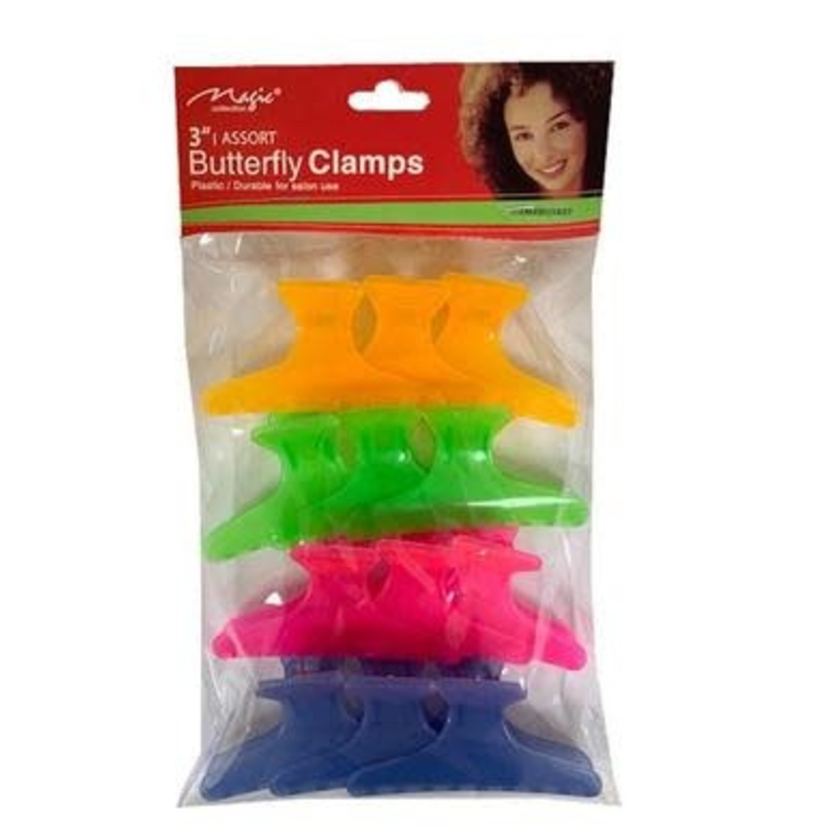 """MAGIC COLLECTION MAGIC BUTTERFLY CLAMPS 3"""""""