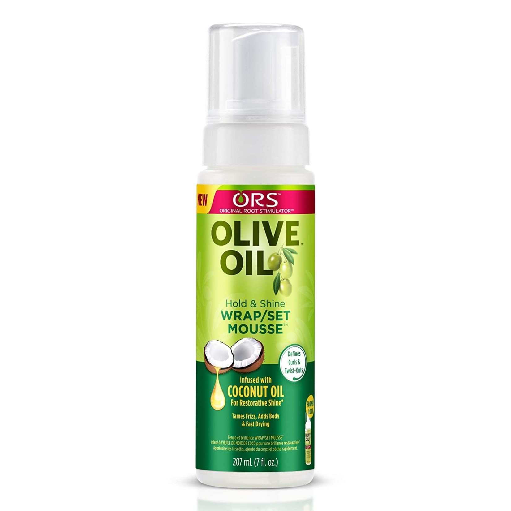 ORS ORGANIC ROOT OLIVE OIL WRAP/SET MOUSSE