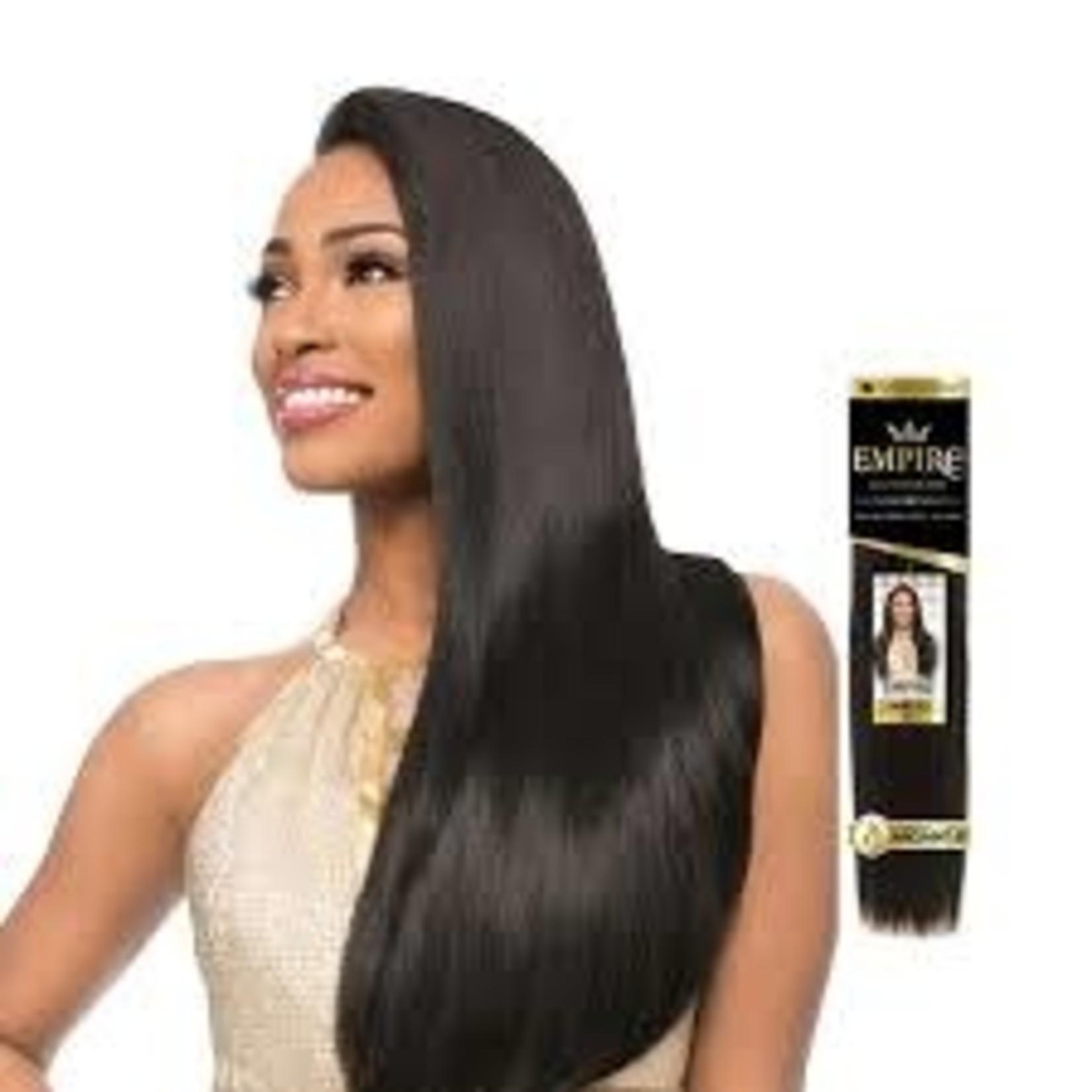 "SENSATIONNEL SENSATIONNEL 100% HUMAN HAIR WEAVE EMPIRE YAKI 14"""