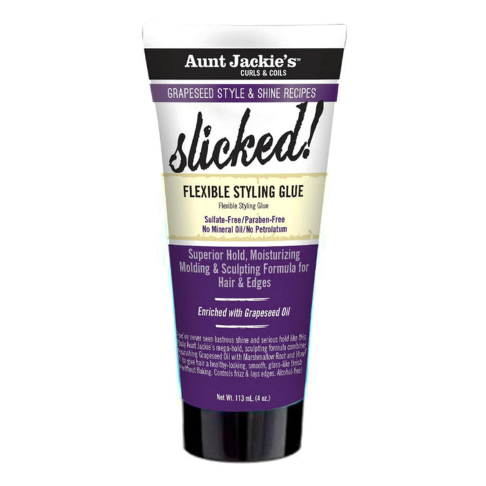AUNT JACKIE'S AUNT JACKIE'S GRAPESEED SLICKED! FLEXIBLE STYLING GLUE [4OZ]