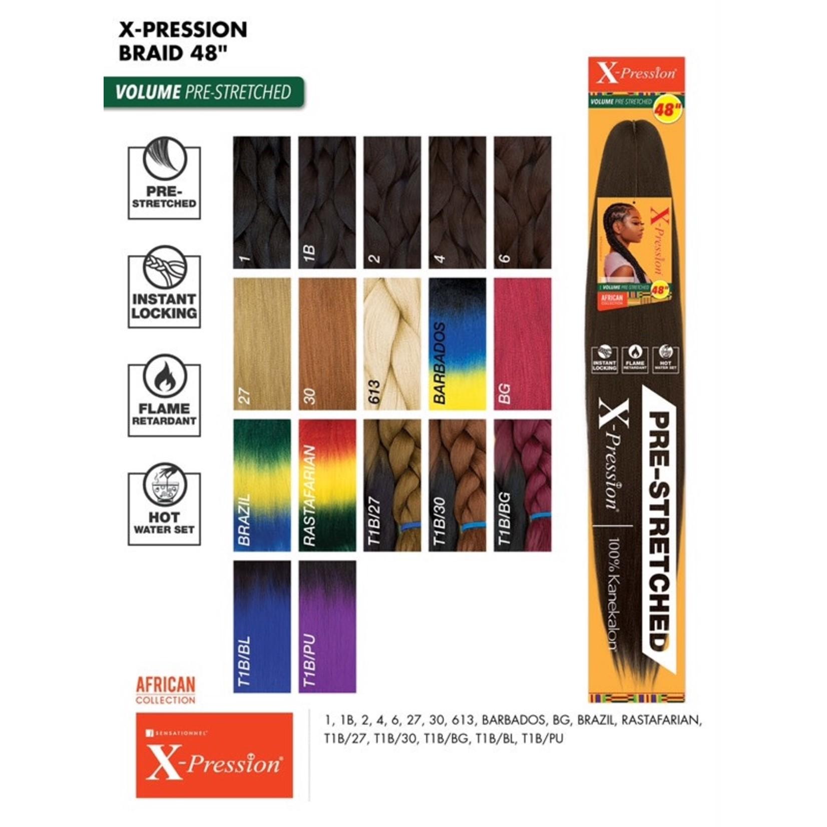SENSATIONNEL X-Pression Volume Pre-Stretched Braid (48″)