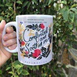 Happier To Give HTG Comfort & Soothed Me Mug