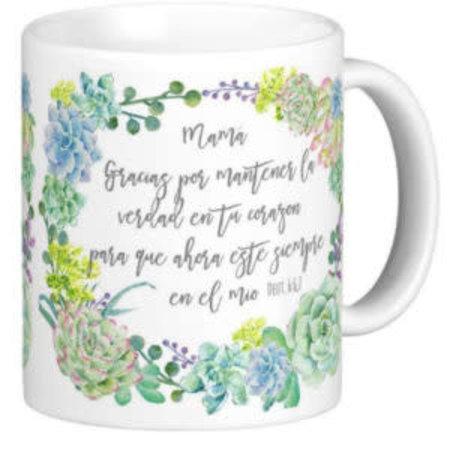 Happier To Give HTG Mom Mug Spanish