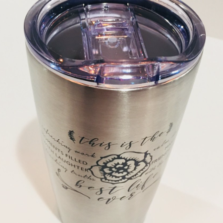 Happier To Give HTG Steel Tumbler