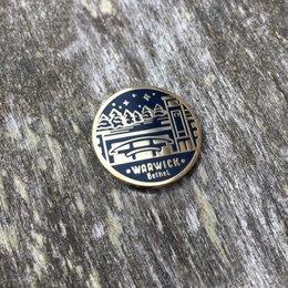 Seasoned with Salt Enamel Warwick Pin