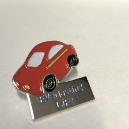 JW Stuff Red Car Pin