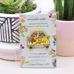 Happier To Give HTG Joyful Car Pin