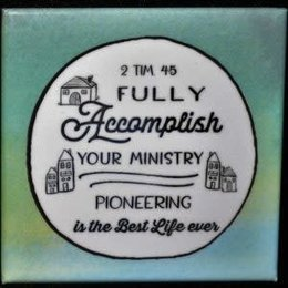 Happier To Give HTG 2 Tim 4:5 Magnet