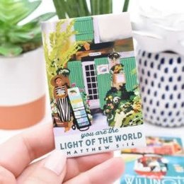 Happier To Give You are the Light Matt 5:14 Magnet