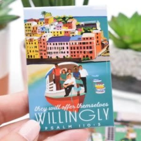 Happier To Give HTG Willingly Magnet
