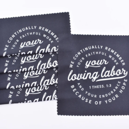 Happier To Give 1 Thess 1:3 Lens Cloth