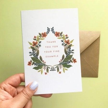 Seasoned with Salt Fine Example Card