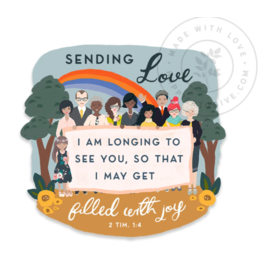 Happier To Give Sending Love Magnet