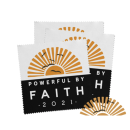 Happier To Give Powerful by Faith Lens Cloth