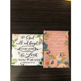 Happier To Give Heb 6:10 Magnet