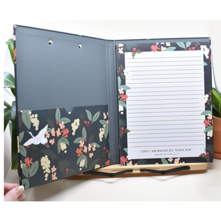 Happier To Give HTG Letter Writing Pad & Clipfolio