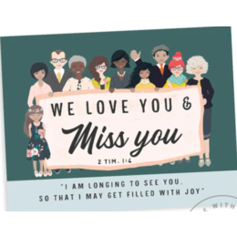 Happier To Give Miss You Card