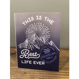 Happier To Give Blue Best Life Ever Card