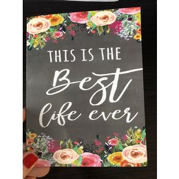 Happier To Give Flower Best Life Ever Card