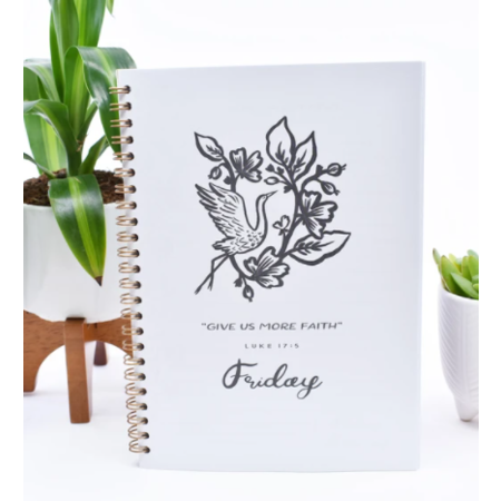 Happier To Give Powerful By Faith Sisters' Notebook