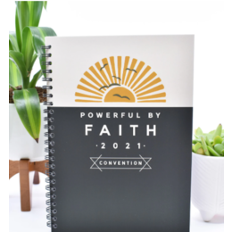 Happier To Give Powerful By Faith Brothers' Notebook
