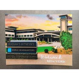 Happier To Give Warwick Postcard
