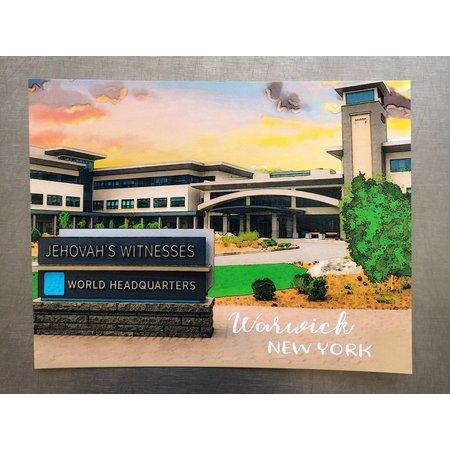 Happier To Give HTG Warwick Postcard