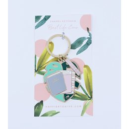 Happier To Give Best Life Ever Service Keychain