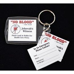 No Blood Keychain - Paper inside