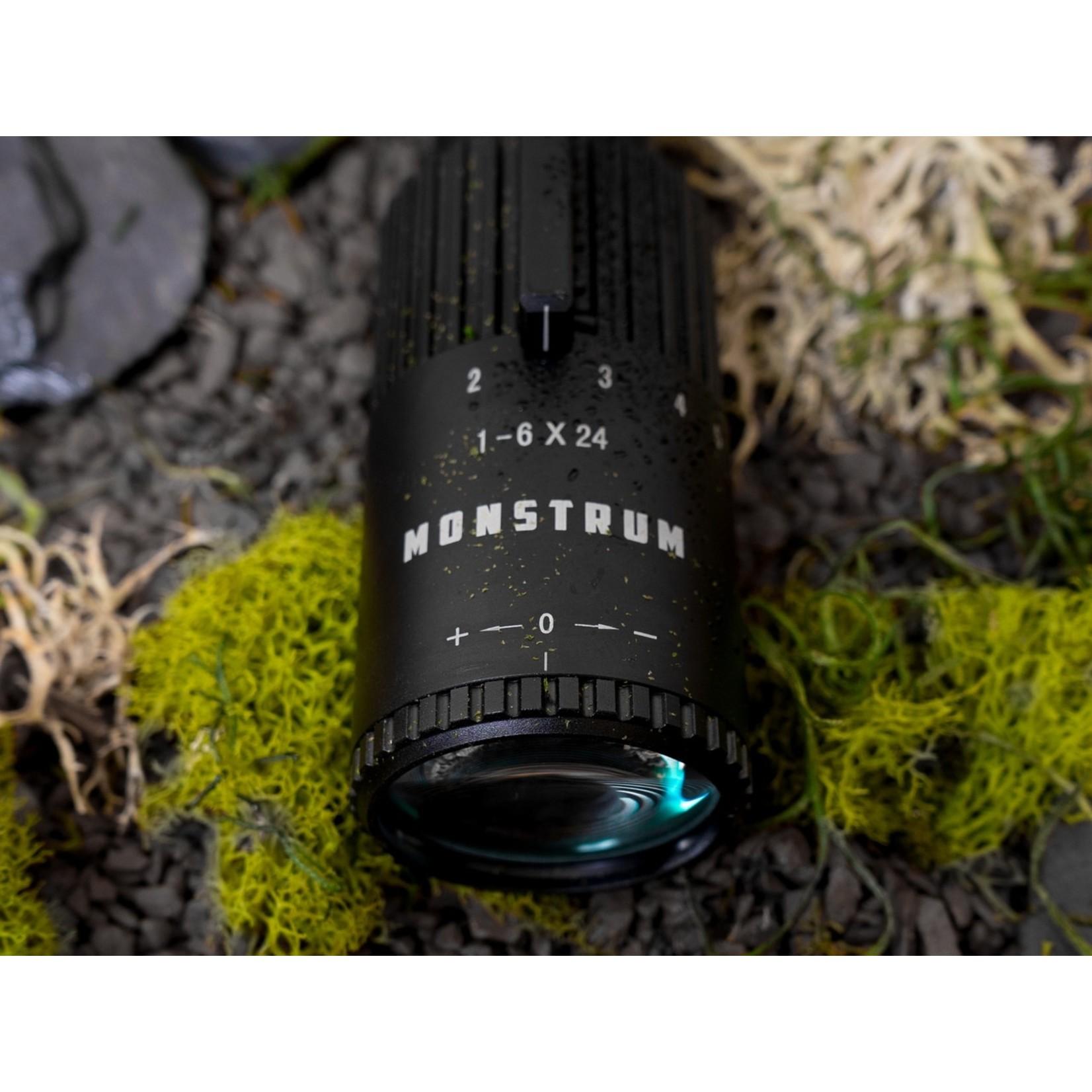 Monstrum Tactical Monstrum Alpha 1-6x24 FFP Rifle Scope (Black)