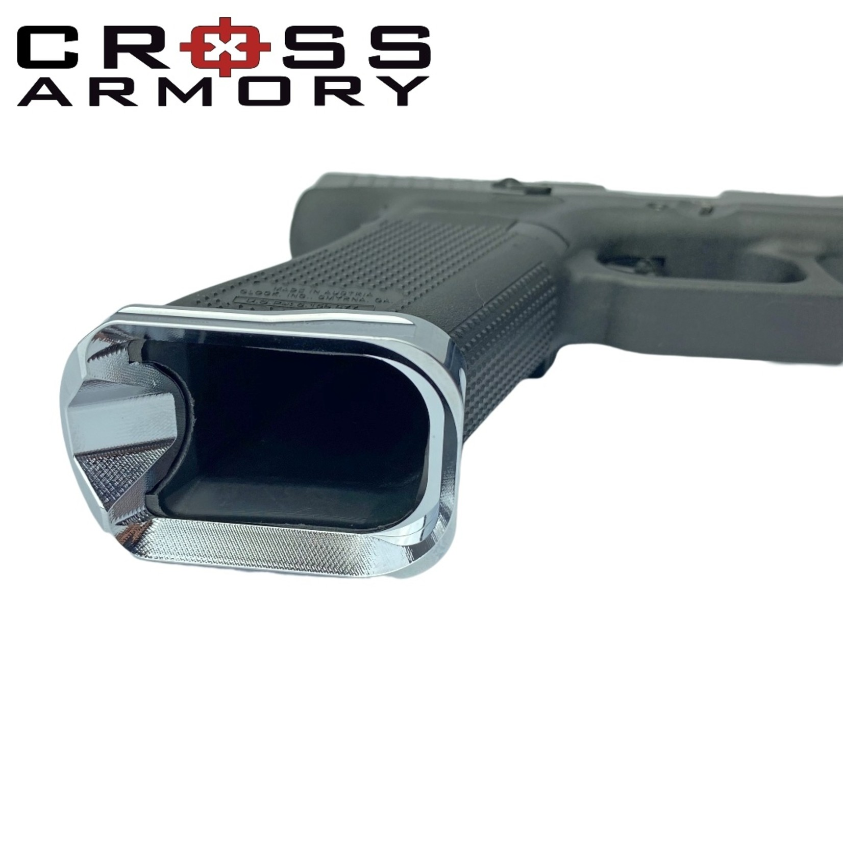 Cross Armory FLARED MAGWELL for Glock Gen 5 – SILVER by Cross Armory