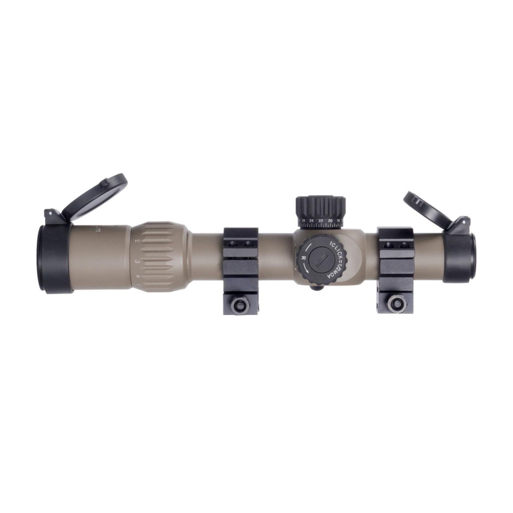 Monstrum Tactical Monstrum G3 1-6x24 FFP Rifle Scope (FDE)