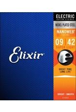 Elixir Elixir 12002 Electric Nickel Plated Steel W/Nanoweb Coating 9-42