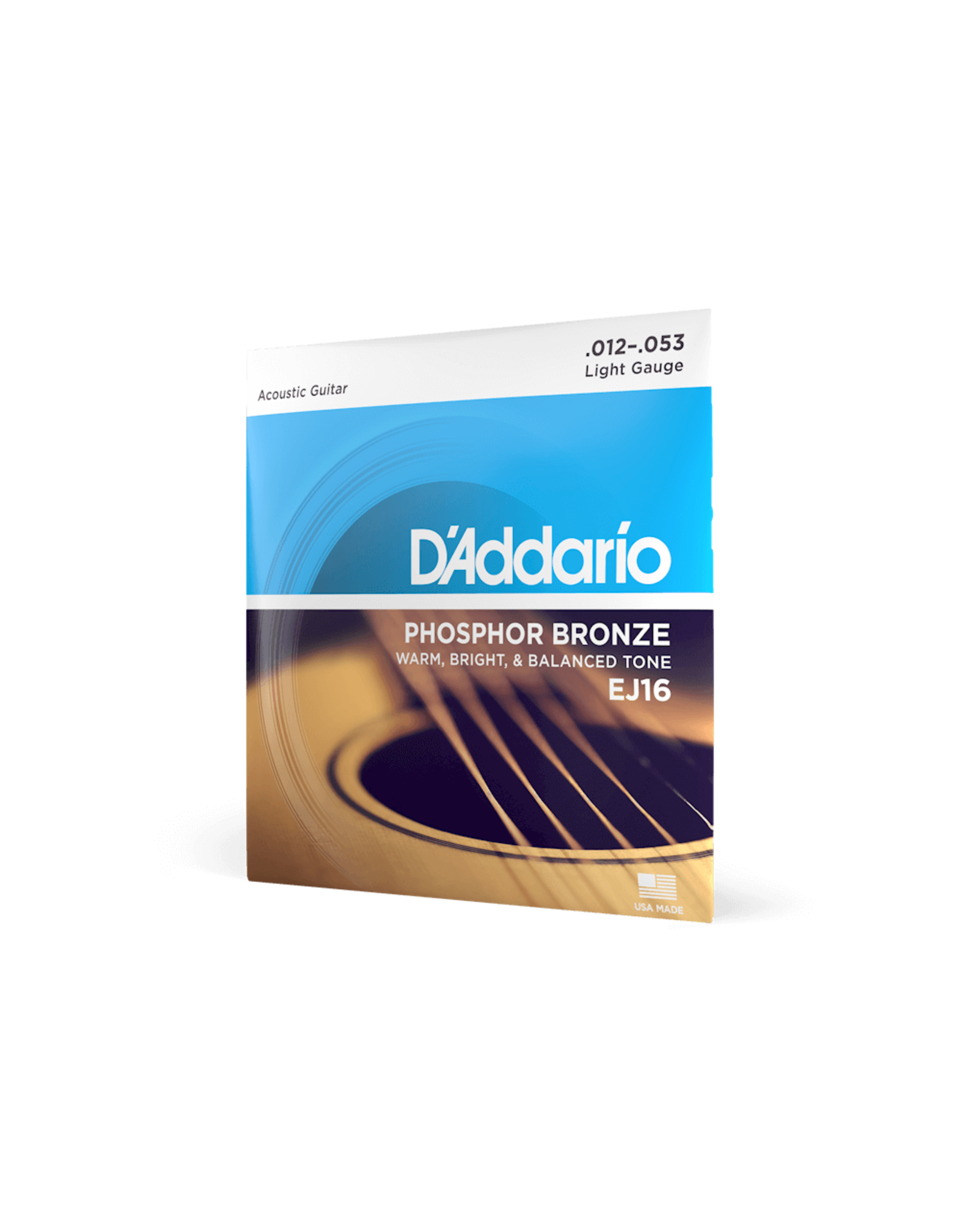D'Addario D'Addario EJ16 Phosphor Bronze Regular Light Acoustic Strings 12-53