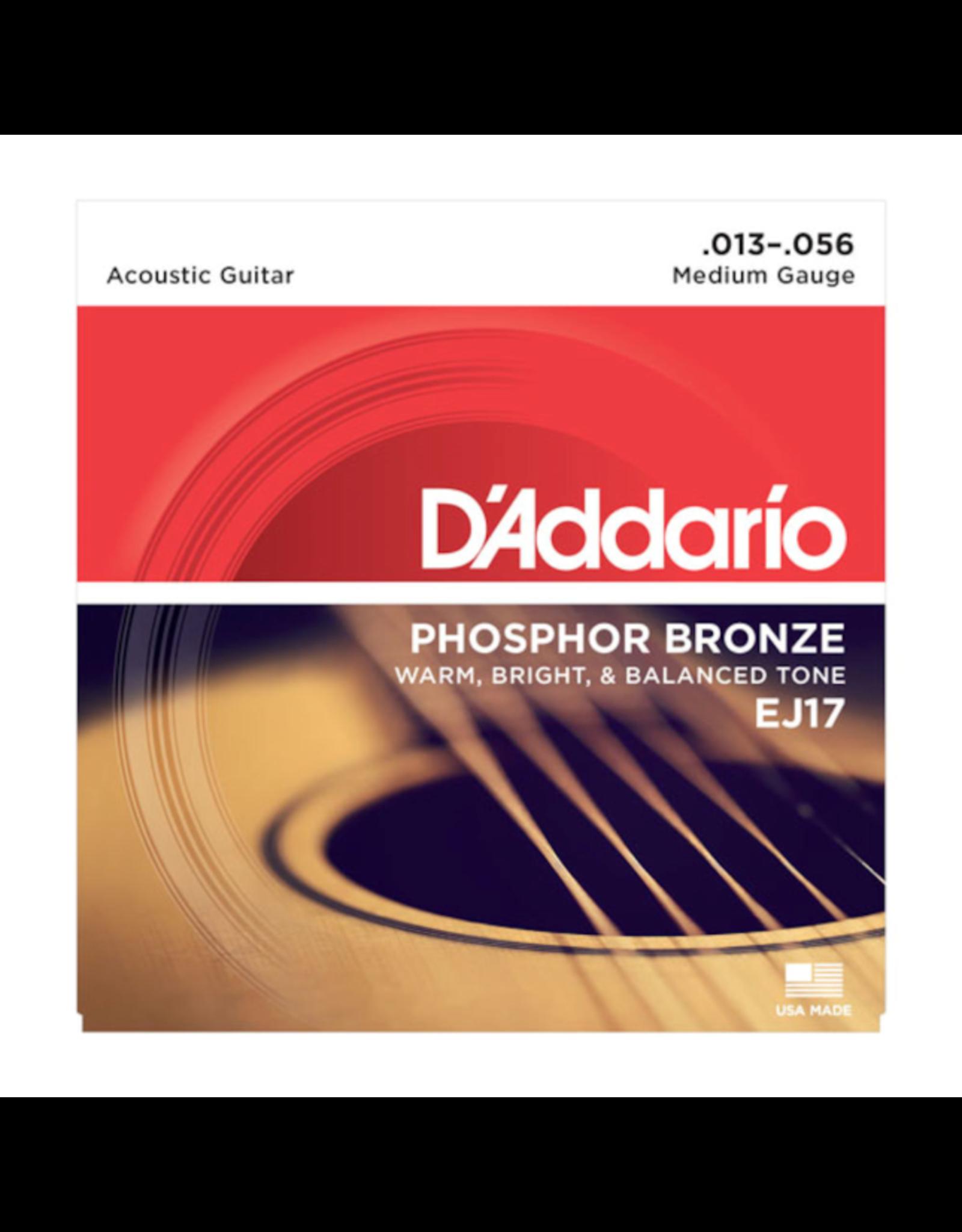 D'Addario D'Addario EJ17 Phosphor Bronze Medium Acoustic - 13-56