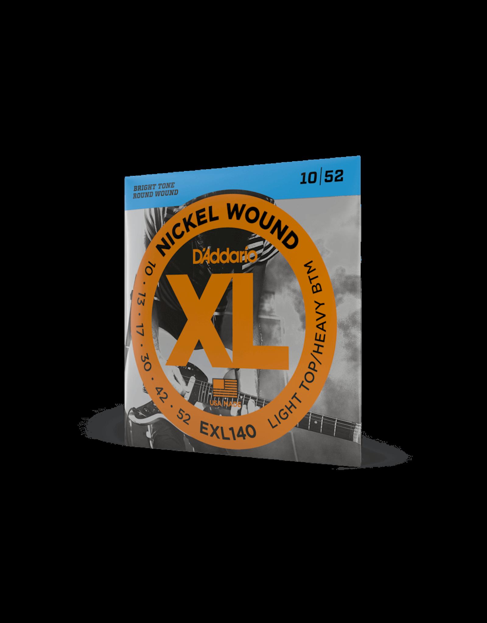 D'Addario D'Addario EXL140 Nickel Wound Light Top/Heavy Btm Electric Guitar Strings 10-52
